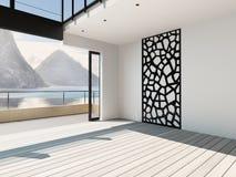 Modern airy apartment interior / atrium Royalty Free Stock Photography