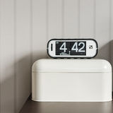 Modern alarm clock on white plastic box Royalty Free Stock Photos