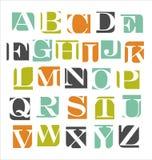 Modern alfabetaffischdesign Arkivbilder