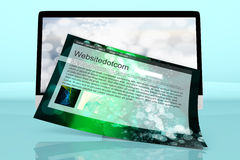 A modern All in one computer with a generic website Stock Photo