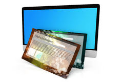 A modern All in one computer with a generic website Royalty Free Stock Images