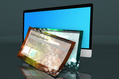 A modern All in one computer with generic websites Stock Images