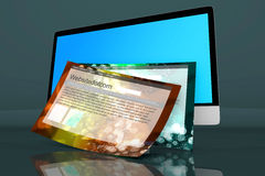 A modern All in one computer with generic websites Royalty Free Stock Photo