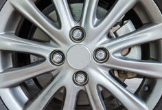 Modern alloy wheel Royalty Free Stock Image