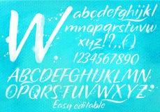 Modern alphabet blue background Stock Photography