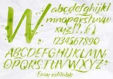 Modern alphabet green color Stock Images