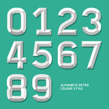 Modern alphabet number colour style. Royalty Free Stock Photos