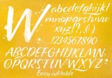 Modern alphabet orange background Royalty Free Stock Photo