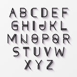 Modern alphabet with shadow Royalty Free Stock Photo