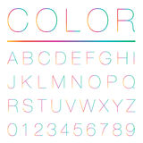 Modern Alphabet (uppercase) Stock Photography