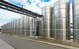 Modern aluminum barrels Stock Images