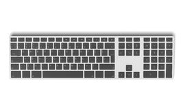 Modern aluminum computer keyboard top view Royalty Free Stock Photography