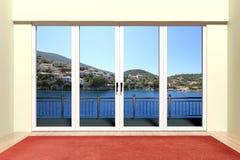 Modern aluminum window Stock Photography