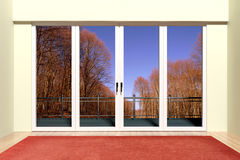 Modern aluminum window Royalty Free Stock Photo