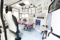 Modern ambulance Royalty Free Stock Images