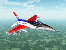 Modern American Fighter Plane. Computer generated 3D illustration with Modern Fighter Plane Royalty Free Stock Images