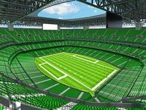 Modern American football Stadium with green seats Stock Image