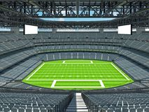 Modern American football Stadium with grey seats Stock Image