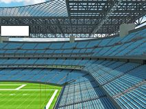 Modern American football Stadium with sky blue seats Stock Image