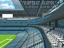 Modern American football Stadium with sky blue seats Stock Photo