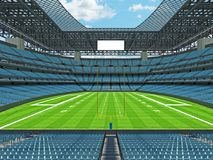 Modern American football Stadium with sky blue seats Stock Images