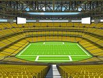 Modern American football Stadium with yellow seats Royalty Free Stock Photos