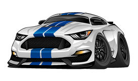 Modern American Muscle Sports Car Illustration Stock Photography