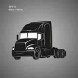 Modern american truck vector icon. Heavy transport illustration. Modern american truck vector icon Royalty Free Stock Image