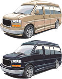 Modern american van Royalty Free Stock Photos