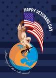 Modern American Veterans Day Greeting Card Stock Photo