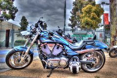 Modern American Victory motorcycle Royalty Free Stock Photos
