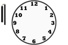 Modern analog clocks made in simple design Royalty Free Stock Photography