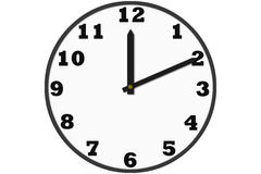 Modern analog clocks made in simple design Royalty Free Stock Image