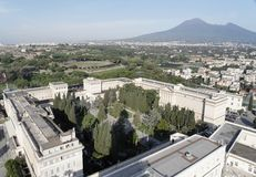 Modern and Ancient Pompeii and the Vesuvio Royalty Free Stock Photography
