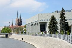 Modern And Classic Architecture In Wroclaw Stock Photography