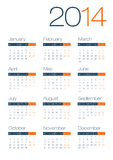 Modern And Clean Business 2014 Calendar Royalty Free Stock Photography