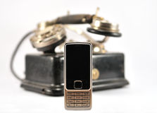 Modern And Old Phone Royalty Free Stock Images