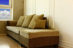 Modern Angle sofa Royalty Free Stock Photos