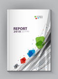 Modern Annual report Cover design vector dot technology Royalty Free Stock Images