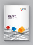 Modern Annual report Cover design vector dot technology Royalty Free Stock Image