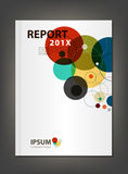 Modern Annual report Cover design vector geometric spectrum them Royalty Free Stock Photos