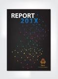 Modern Annual report Cover design vector geometric spectrum Stock Photo