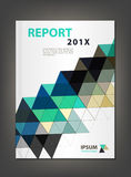 Modern Annual report Cover design vector, Multiply Triangle  the Royalty Free Stock Images