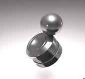 Modern anti-stress toy orbit 3d illustration. Royalty Free Stock Image