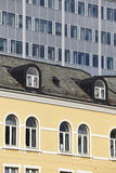 Modern and antique classic buildings facades. Norway. Europe Stock Photo