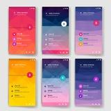 Modern användargränssnittskärmmall för mobil vektor illustrationer