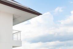 Modern apartment balcony beautiful Stock Images