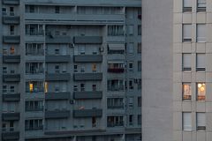 Modern apartment block, Belgrade, Serbia Royalty Free Stock Photography
