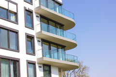 Modern Apartment Block Stock Photography