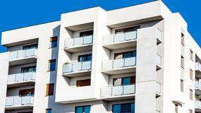 Modern Apartment Block . stock images